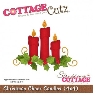 Cottage Cutz СС551 - Christmas Cheer Candles (4x4)