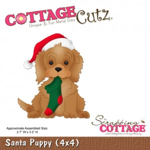 Cottage Cutz CC432 - Santa Puppy (4x4)