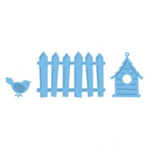 Marianne Design LR0205 - Оградка, къщичка и птиче