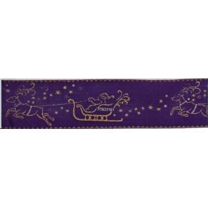 Текстилна панделка - Weihnachtsmann - 40 - 710
