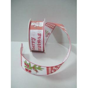 Текстилна панделка - Merry Christmas - 40 - 609