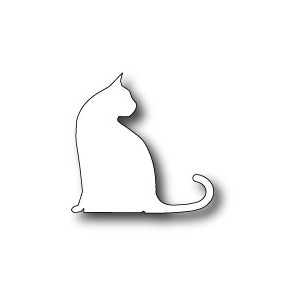Poppystamps 871 - Large Sitting Cat