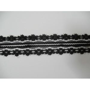 Дантела Финна 30мм / Черна - 4