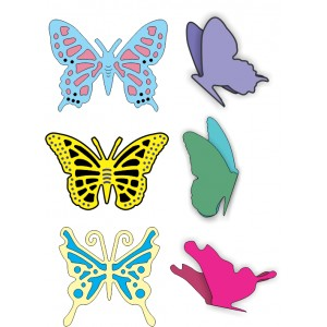 Cheery Lynn Designs DL112AB - Small Exotic Butterflies 1 w/Angel Wings