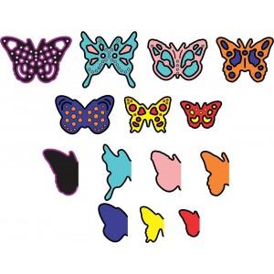 Cheery Lynn Designs D138 - Mini Butterflies w Angel Wings