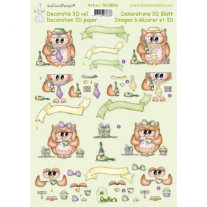 Le Crea Knipvel Owlie's - Топери за 3D картички - art.50.8886