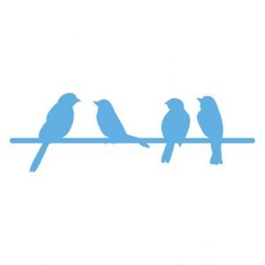 Marianne Design LR0290 - Птиченца кацнали на жица