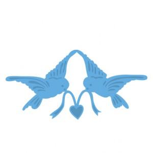 Marianne Design LR0298 - Гълъби носят сърце