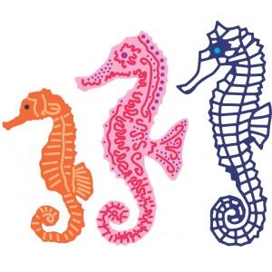 Cheery Lynn Designs B267 - Seahorse Family