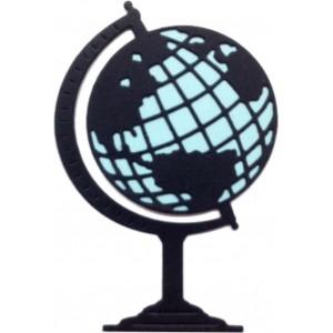 Cheery Lynn Designs B397 - World Atlas w/Angel Wing