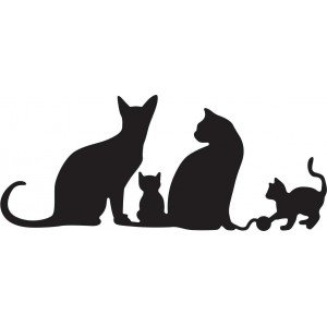 Cheery Lynn Designs B417 - Kitty Kitty Meow Meow