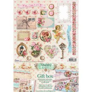 Лист с изрязани елементи А4 CDSC30 - Shabby Chic - Gift box SC nr.30