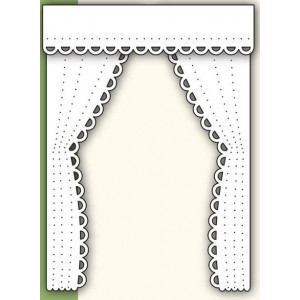 Poppystamps 868 - Lacy Curtains