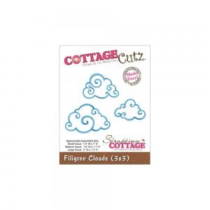 Cottage Cutz CC096 - Filigree Clouds (3x3)
