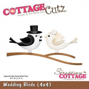 Cottage Cutz CC572 - Wedding Birds (4x4)