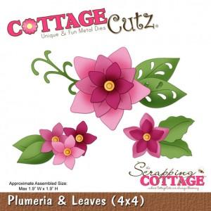 Cottage Cutz CC391 - Plumeria & Leaves (4x4)