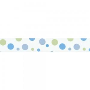 Текстилна панделка - Blue/Green - 25 - 355/16