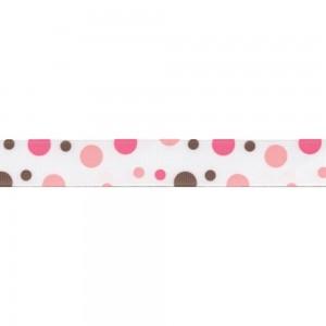 Текстилна панделка - Pink/Brown - 25 - 355/93
