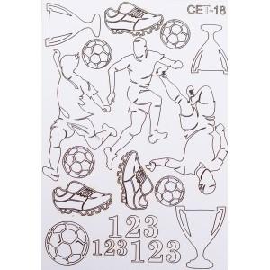 СЕТ018 / A5 - Комплект с елементи от бирен картон