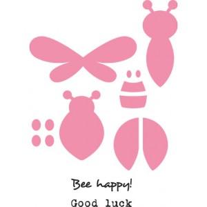 Marianne Design COL1356 - Bee & Lady bird + печати