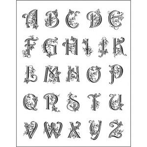 Viva 4003.045.00 - Силиконови печати - Alphabet Large
