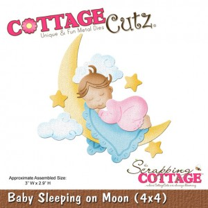 Cottage Cutz CC579 - Baby Sleeping on Moon (4x4)