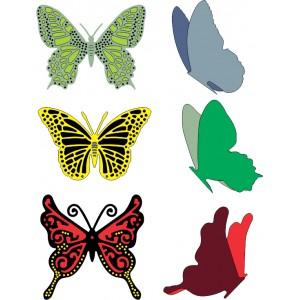 Cheery Lynn Designs DL113AB - Small Exotic Butterflies 2 w/Angel Wings
