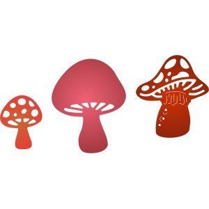 Cheery Lynn Designs B365 - Faerie Mushrooms (Set of 3)