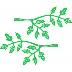 Cheery Lynn Designs B466 - Branch (Set of 2)
