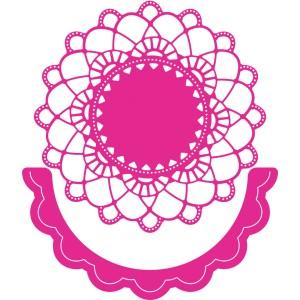 Cheery Lynn Designs DL239 - Felicity Doily w/ Angel Wing