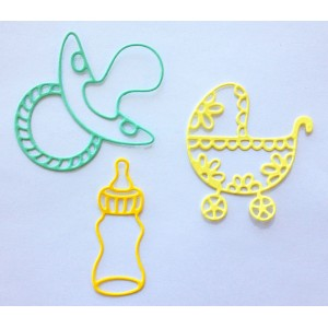 Crafty Ann CABD-14 - Babies 2 (Bottle, Pacifier, Baby Carriage)