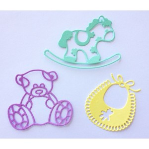 Crafty Ann CABD-13 - Babies 1 (Bib, Hobbyhorse, Teddy Bear)