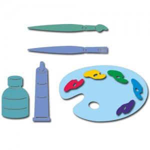 Crafty Ann CABD-118 - Brush and Palette