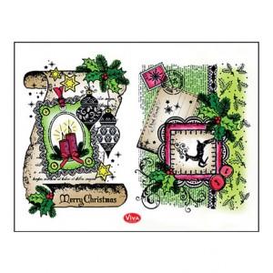 Viva 4003.090.00 - Силиконови печати - Scroll Merry Christmas