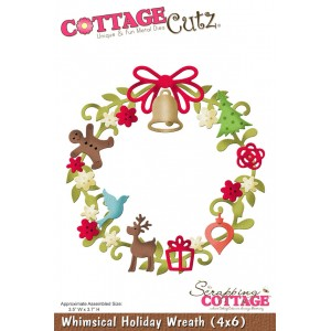 Cottage Cutz CC153 - Whimsical Holiday Wreath (4x6)