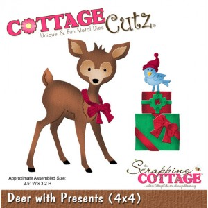 Cottage Cutz CC588 - Deer with Presents (4x4)