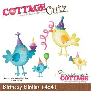 Cottage Cutz CC584 - Birthday Birdies (4x4)