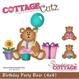 Cottage Cutz CC585 - Birthday Party Bear (4x4)