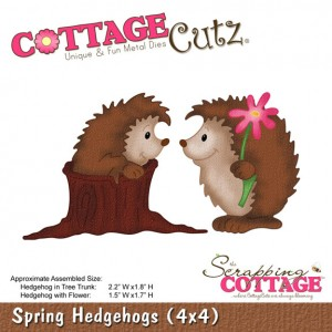Cottage Cutz СС566 - Spring Hedgehogs (4x4)