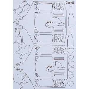 СЕТ045 / A5 - Комплект с елементи от бирен картон