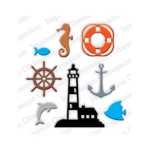 Impression Obsession DIE184-L - Mini Nautical Set