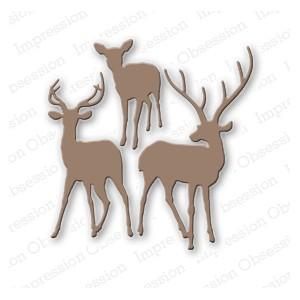 Impression Obsession DIE080-N - Deer Trio