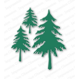 Impression Obsession DIE084-V - Fir Trees