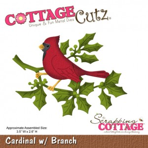 Cottage Cutz CC015 - Cardinal w/ Branch