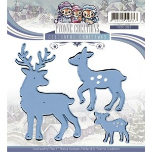 Find It Trading YCD10029 - Yvonne Creations Colourful Christmas - Reindeer